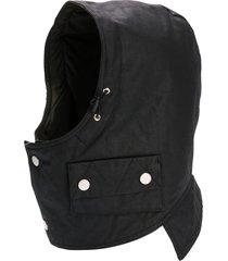 raglan united helmet hood hat - black