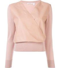 agnona wrap pullover jumper - pink
