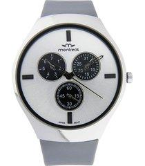reloj gris montreal slim