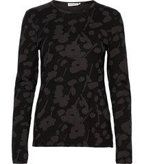 hiili heini shirt t-shirts & tops long-sleeved zwart marimekko