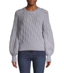cinq à sept women's balloon-sleeve wool-blend sweater - cloud - size l
