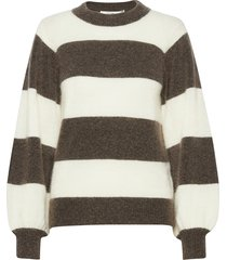 debbiegz stripe pullover so21 stickad tröja brun gestuz