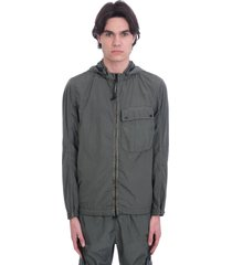 c.p. company casual jacket in green polyamide