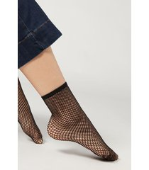 calzedonia mesh socks woman black size tu
