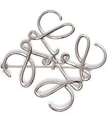 anagram metal brooch