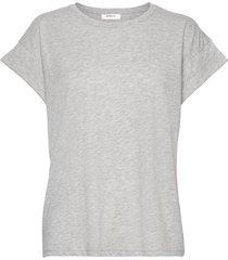 alva std tee t-shirts & tops short-sleeved grå moss copenhagen