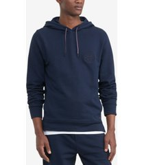 tommy hilfiger men's big & tall logo embroidered french terry hoodie