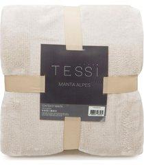 manta cationic blanket queen 2,20m x 2,40m 300g/mâ² - tessi - creme - bege - dafiti