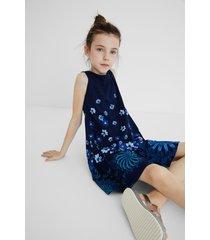 cotton dress straps - blue - 11/12