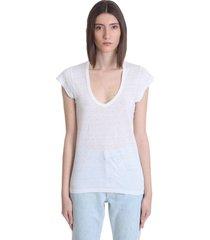 isabel marant étoile zankou t-shirt in white linen