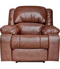 poltrona do papai reclinável elétrica com entrada usb magnum couro marrom - gran belo