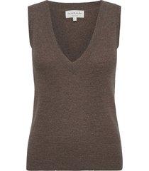 wool & cashmere vest vests knitted vests bruin rosemunde
