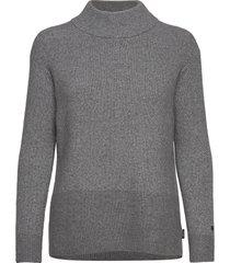 ls lurex mock neck sweater gebreide trui grijs calvin klein