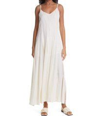 women's birgitte herskind luna jacquard maxi dress, size 10 us - ivory