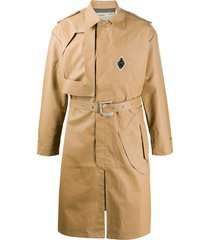 a-cold-wall* belted waist trench coat - neutrals