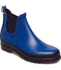 rubberboots regnstövlar skor blå ilse jacobsen