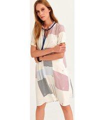sukienka larime w paskowy druk