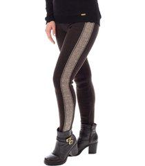calça legging de malha sumaré 31101 marrom