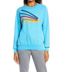 women's aviator nation daydream sweatshirt, size x-large - blue