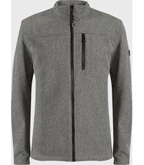 chaqueta calvin klein gris - calce regular