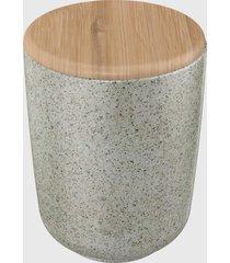 porta algodã£o c/ tampa bambu osaka reativo branco - branco - dafiti