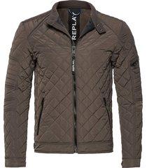 jacket doorgestikte jas grijs replay