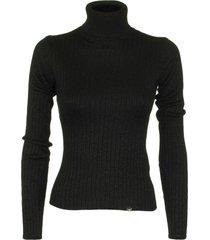 elisabetta franchi celyn b. black tricot top