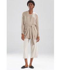 natori osaka belted cardigan top, women's, grey, size m natori