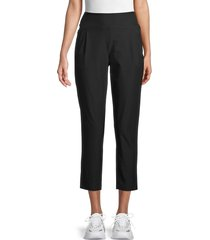 calvin klein performance women's high-waist cropped pants - black - size xs