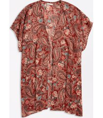 maurices womens paisley open front kimono