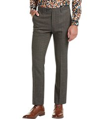 paisley & gray slim fit suit separates dress pants olive plaid houndstooth