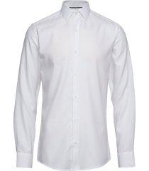 dobby | royal oxford - slim fit skjorta business vit seven seas copenhagen