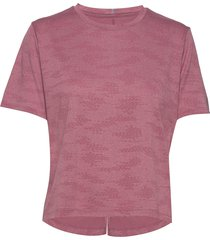 q speed jacquard t-shirts & tops short-sleeved rosa new balance
