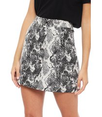 falda only darline jacquard snake gris - calce regular