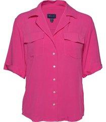 d2. lightweight safari shirt overhemd met korte mouwen roze gant
