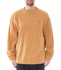 gramicci crew neck sweatshirt |mustard| 19f043-mus