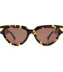 bottega veneta bottega veneta bv1035s havana sunglasses