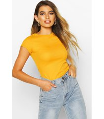 basic ribbed t-shirt, mustard