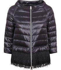 black technical fabric padded jacket