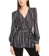 elie tahari belted blouse