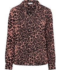 blus vifabina l/s shirt leopard