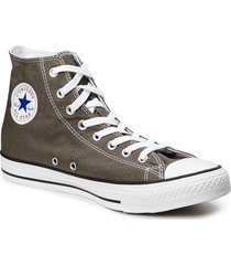 all star canvas hi höga sneakers beige converse