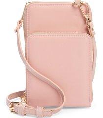 mali + lili nylon phone crossbody bag - pink