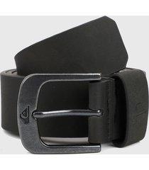 cinturón negro-plateado quiksilver