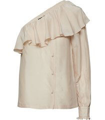 elenora off-shoulder top blus långärmad creme designers, remix