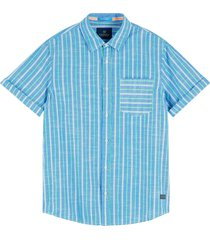 scotch & soda yarn-dyed shortsleeve shirt