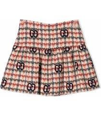 gucci gg tweed skirt