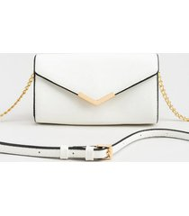 chelsea simple envelope clutch - white