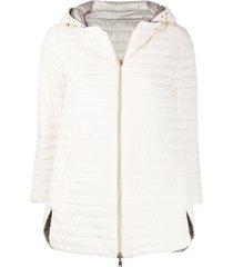 herno reversible 3/4 sleeves jacket - white
