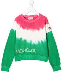moncler enfant tie-dye jumper - white
